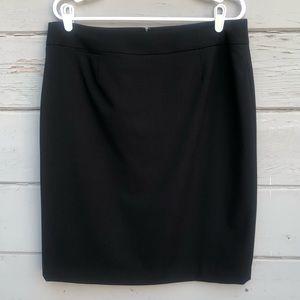 Calvin Klein black pencil skirt back zipper / slit